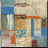 Blue Radiance I Stretched Canvas Print by Leslie Bernsen