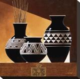 Patterns in Ebony II Reproducción de lámina sobre lienzo por Keith Mallett