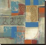 Blue Radiance II Stretched Canvas Print by Leslie Bernsen