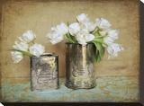 Vintage Tulips I Bedruckte aufgespannte Leinwand von Cristin Atria