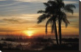 Ana Maria Sunset Stretched Canvas Print by Mike Jones