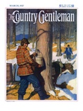 """Gathering Maple Syrup,"" Country Gentleman Cover, March 1, 1927 Giclée-tryk af Newell Convers Wyeth"