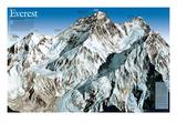 Mt. Everest Map Kunstdrucke von  National Geographic Maps