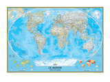 French Classic World Map Prints by  National Geographic Maps