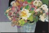 Flower Market Stretched Canvas Print by Leslie Bernsen