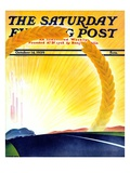 """Golden City,"" Saturday Evening Post Cover, October 14, 1939 Gicléetryck av H. Wilson Smith"
