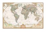 Carte du monde haut de gamme en allemand Posters par  National Geographic Maps