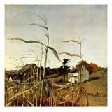 """""""Autumn Cornfield,""""October 1, 1950 Giclée-vedos tekijänä Andrew Wyeth"""