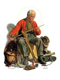 """Going Fishing,""May 3, 1930 Giclee Print by J.F. Kernan"