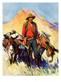 """Miner and Donkeys,""May 27, 1933 Giclee Print by William Henry Dethlef Koerner"