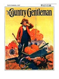 """Where's That Turkey,"" Country Gentleman Cover, November 1, 1927 Giclée-vedos tekijänä William Meade Prince"