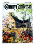 """Home in Springtime,"" Country Gentleman Cover, April 1, 1930 Giclee Print by Nelson Grofe"