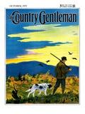 """Duck Hunter and Dog,"" Country Gentleman Cover, October 1, 1929 Giclée-vedos tekijänä Paul Bransom"