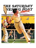 """Doubles Tennis Match,"" Saturday Evening Post Cover, September 5, 1936 Reproduction procédé giclée par Maurice Bower"