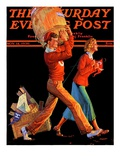 """After the Game,"" Saturday Evening Post Cover, November 14, 1936 Giclee-trykk av Monte Crews"