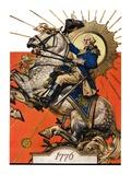 """George Washington on Horseback,""July 2, 1927 Giclee Print by Joseph Christian Leyendecker"