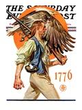 """Minute Man,"" Saturday Evening Post Cover, June 29, 1929 Gicléetryck av Joseph Christian Leyendecker"