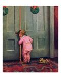 """Christmas Peek,""December 22, 1934 Giclée-tryk af Mary Ellen Sigsbee"