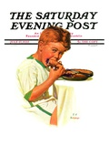 """Blueberry Pie,"" Saturday Evening Post Cover, July 27, 1935 Giclée-vedos tekijänä J.F. Kernan"