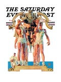 """Rowing Team,"" Saturday Evening Post Cover, August 6, 1932 Gicléedruk van Joseph Christian Leyendecker"