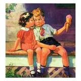 """""""Kiss for Ice Cream,""""June 1, 1936 Giclée-vedos tekijänä Henry Hintermeister"""