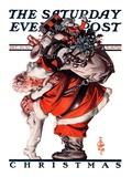 """Hug from Santa,"" Saturday Evening Post Cover, December 26, 1925 Giclee Print by Joseph Christian Leyendecker"
