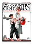"""Going Planting,"" Country Gentleman Cover, March 17, 1923 Giclée-vedos tekijänä F. Lowenheim"