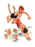 """Diving In,""June 8, 1935 Giclee Print by Joseph Christian Leyendecker"