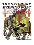 """Political Party Symbols,"" Saturday Evening Post Cover, October 17, 1936 Giclée-Druck von Joseph Christian Leyendecker"