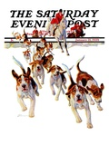 """""""After the Scent,"""" Saturday Evening Post Cover, January 21, 1939 Giclee Print by Paul Bransom"""