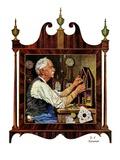 """Clockmaker,""July 18, 1931 Giclee Print by J.F. Kernan"