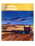 """""""Wheat Harvest,"""" Country Gentleman Cover, June 1, 1942 Giclee Print by Dale Nichols"""