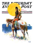 """""""Painted Pony,"""" Saturday Evening Post Cover, October 24, 1931 Giclee Print by William Henry Dethlef Koerner"""
