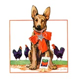 """Guarding the Garden,""May 1, 1935 Giclee Print by Jene Klebe"