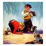 """Lost All His Marbles,""March 1, 1937 Giclée-vedos tekijänä Henry Hintermeister"