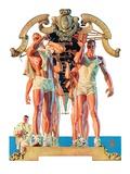 """""""Rowing Team,""""August 6, 1932 Giclée-Druck von Joseph Christian Leyendecker"""
