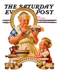 """Trimming the Pie,"" Saturday Evening Post Cover, November 23, 1935 Giclée-vedos tekijänä Joseph Christian Leyendecker"
