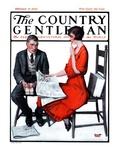 """Cross Words,"" Country Gentleman Cover, February 21, 1925 Giclée-vedos tekijänä Harold Brett"
