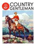"""""""Mountain Trail Ride,"""" Country Gentleman Cover, April 1, 1936 Giclée-vedos tekijänä Frank Schoonover"""