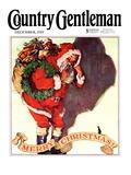 """Santa and Christmas Mouse,"" Country Gentleman Cover, December 1, 1933 Giclée-vedos tekijänä William Meade Prince"