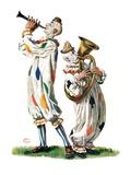 """Musical Clowns,""August 10, 1929 Giclee Print by Alan Foster"