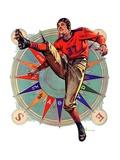 """""""Kickoff,""""October 23, 1937 Giclee-trykk av Elbert Mcgran Jackson"""