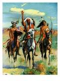 """Indians on Horseback,""November 1, 1929 Giclée-vedos tekijänä Paul Strayer"