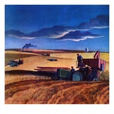 """""""Wheat Harvest,""""June 1, 1942 Giclee Print by Dale Nichols"""