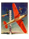 """""""Airshow,""""September 4, 1937 Giclee Print by Clayton Knight"""