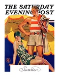 """""""Summertime, 1927,"""" Saturday Evening Post Cover, August 27, 1927 Giclee Print by Joseph Christian Leyendecker"""