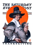 """Pilgrim,"" Saturday Evening Post Cover, November 29, 1924 Giclée-tryk af Joseph Christian Leyendecker"