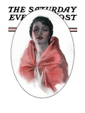 """""""Woman in Shawl,"""" Saturday Evening Post Cover, June 16, 1923 Giclee Print by Rolf Armstrong"""