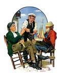 """Three Old Salts,""October 1, 1932 Giclee Print by J.F. Kernan"