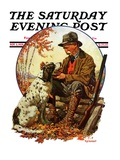 """Hunter and Spaniel,"" Saturday Evening Post Cover, November 3, 1928 Giclee Print by J.F. Kernan"